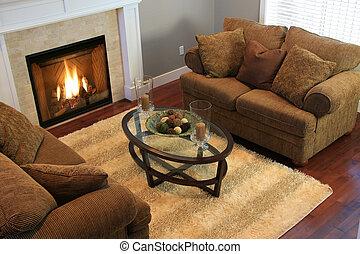 Living room - Contemporary living room.