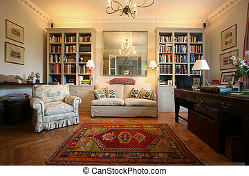 living room - Luxury and classic style living room with...