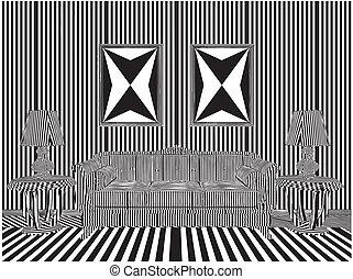 Living Room Stripes