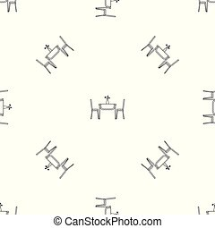 Living room table pattern seamless vector