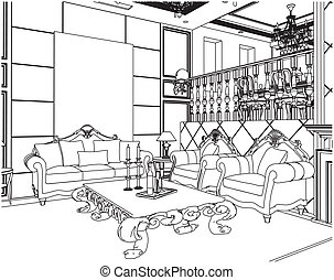 Rooms Illustrations And Clipart 212464 Royalty Free
