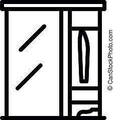 Living room wardrobe icon, outline style
