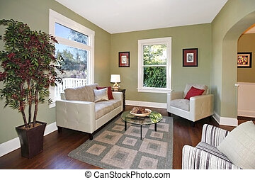 Living room - Well staged living room in a small and cute ...