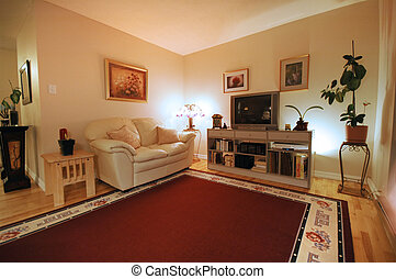 Living room - wide angle view