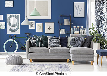 Living room with abstract theme