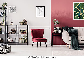 Living room with armchair