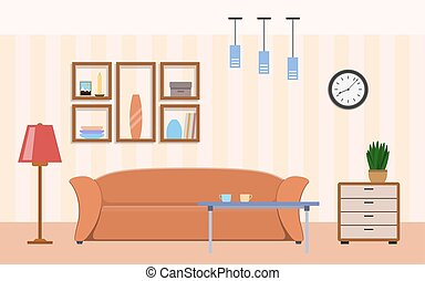 Living room with furniture interior design
