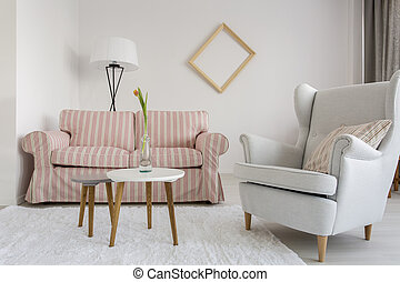 Living room with good atmosphere - Light living room with...