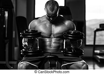 Living Strong - Portrait Of A Physically Fit Young Man In A...