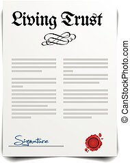 Living Trust - detailed illustration of a Living Trust...