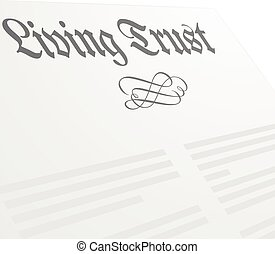 Living Trust Letter - detailed illustration of a Living...