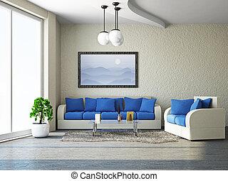 livingroom, à, sofa