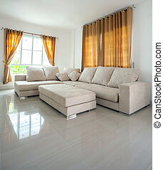 livingroom Interior - modern architecture contemporary,...