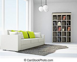 Livingroom with sofas near the window