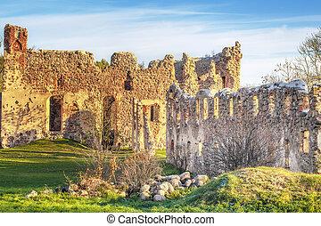 Livonian Order medieval castle ruin