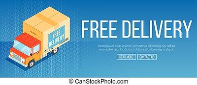 livraison, bannière, gratuite, service