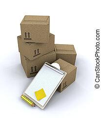livraison, boîtes