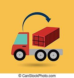 livraison, camion cargaison, expédition