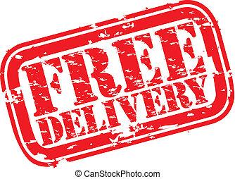 livraison, caoutchouc, grunge, timbre, gratuite