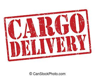 livraison, cargaison, timbre