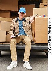 livraison, confection, courrier