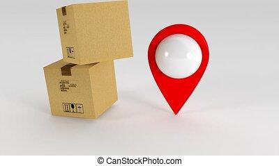 livraison, courrier, 142, coordonnées, gps