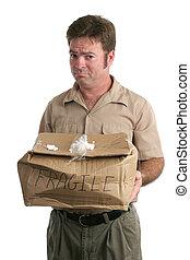 livraison, désolé, homme