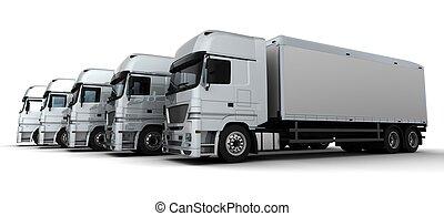 livraison, flotte, véhicules