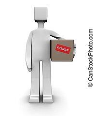 livraison, fragile, concept, paquet, expédition