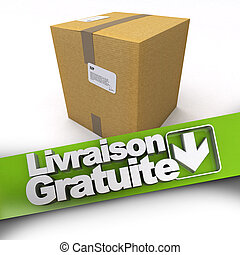 Livraison gratuite, cardboard box