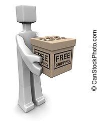 livraison, gratuite, concept, expédition, service