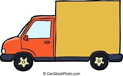 livraison, griffonnage, voiture