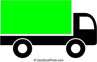 livraison, icon., camion, symbole., expédition