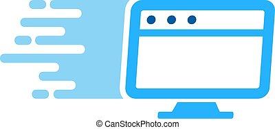 livraison, logo, bureau, conception, icône