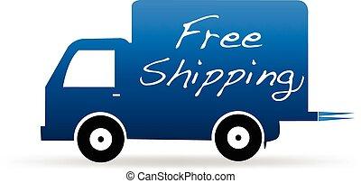 livraison, logo, camion