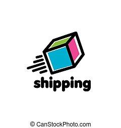 livraison, logo, vecteur