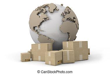 livraison, mondiale