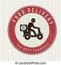 livraison, nourriture