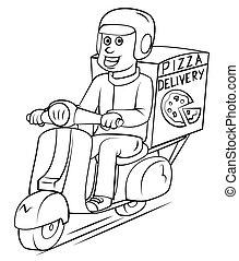 livraison, pizza