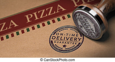 livraison, pizza, temps