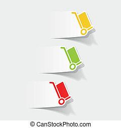 livraison, réaliste, element:, conception, chariot