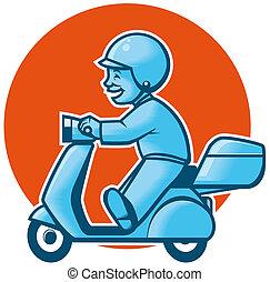 livraison, scooter