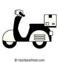 livraison, scooter, jeûne