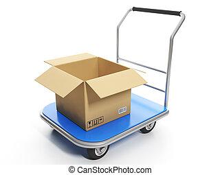 livraison, shruzovaya, goods., chariot