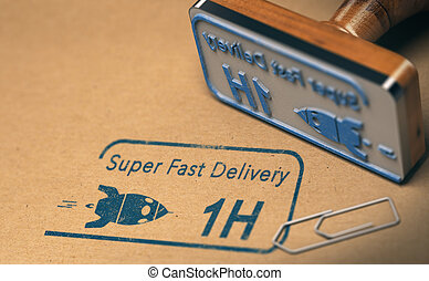 livraison, super, courrier, jeûne, service