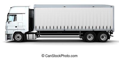 livraison, véhicule cargaison