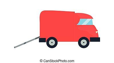 livraison, vecteur, camion, ilustrate, transport, icône
