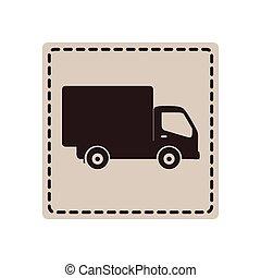 livraison, voiture, Symbole, icône