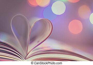 livre, à, coeur
