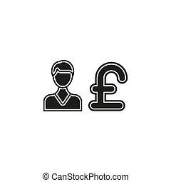 livre, business, argent, -, illustration, signe, banque, symbole, homme